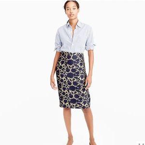 J. Crew Skirt in Floral Jacquard